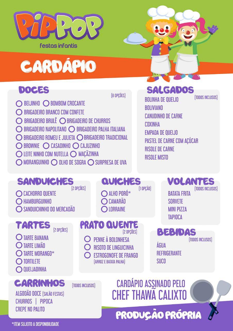 Cardapio 1